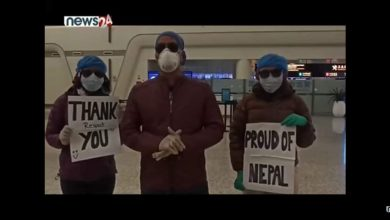 Photo of Nepali returned home safely from China.